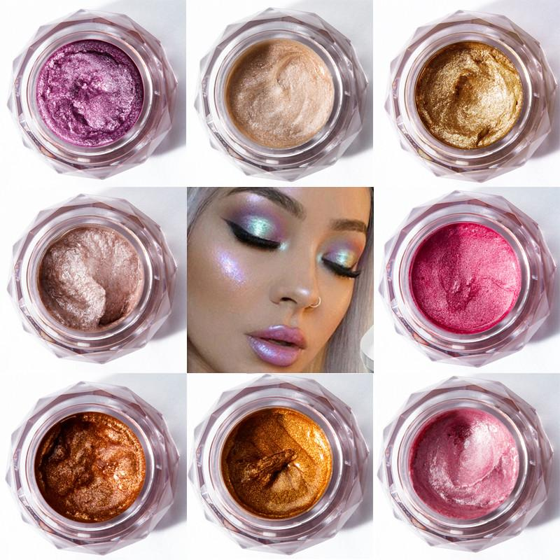 Eye Shadow Beauty Essentials Lower Price with Pudaier Hot Jelly Gel Highlights Powder 3d Face Persistent Body Highlight Paste Mermaid Eye Shadow For All Skin