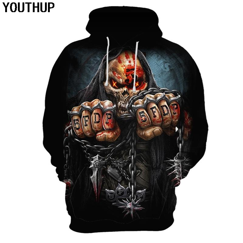 3bc28fc4742d YOUTHUP Male 3d Hoodies Skull Letter Print Cool Hoodies 3d Hip Hop ...
