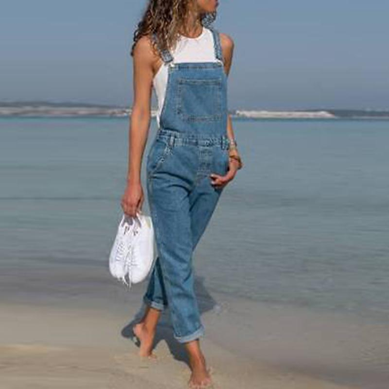 f367ccb43bb 2019 Womens Jeans Woman Fashion Baggy Denim Pants Dungarees Ladies Slim Fit  Jeans Female Overall Jumpsuits Pants Casual Long Trousers From Yolkice