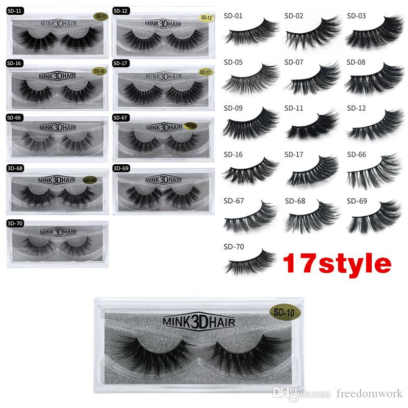 b8c90989197 3D Mink Eyelashes Eye Makeup Mink False Lashes Soft Natural Thick Fake  Eyelashes 3D Eye Lashes Extension Beauty Tools 17 Styles DHL Best Eyelashes  Duo ...