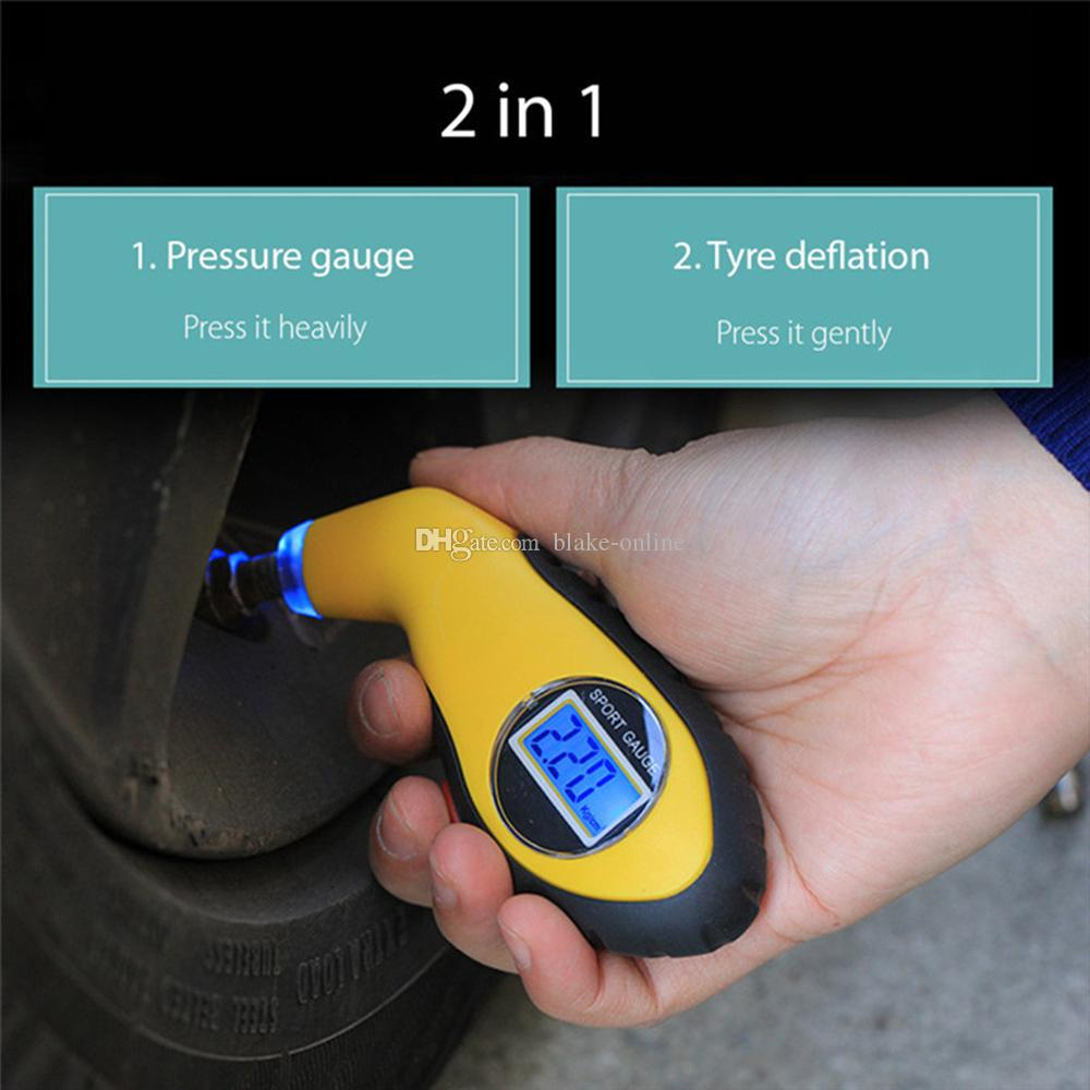 Auto Car Gauge Tester Digital LCD Tire Tyre Pressure Gauge Meter Manometer Barometers Diagnostic Tool for Car Motorcycle
