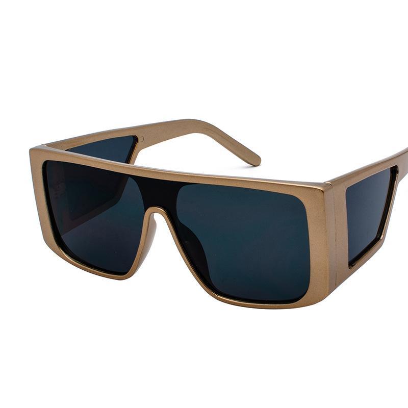 b64f416912e AHH05 Oversized Shield Sunglasses Mens Luxury Shade One Piece Lens Square  Frame Side Window Sunnies Quality BOTERN EYEWEAR Dragon Sunglasses Vintage  ...