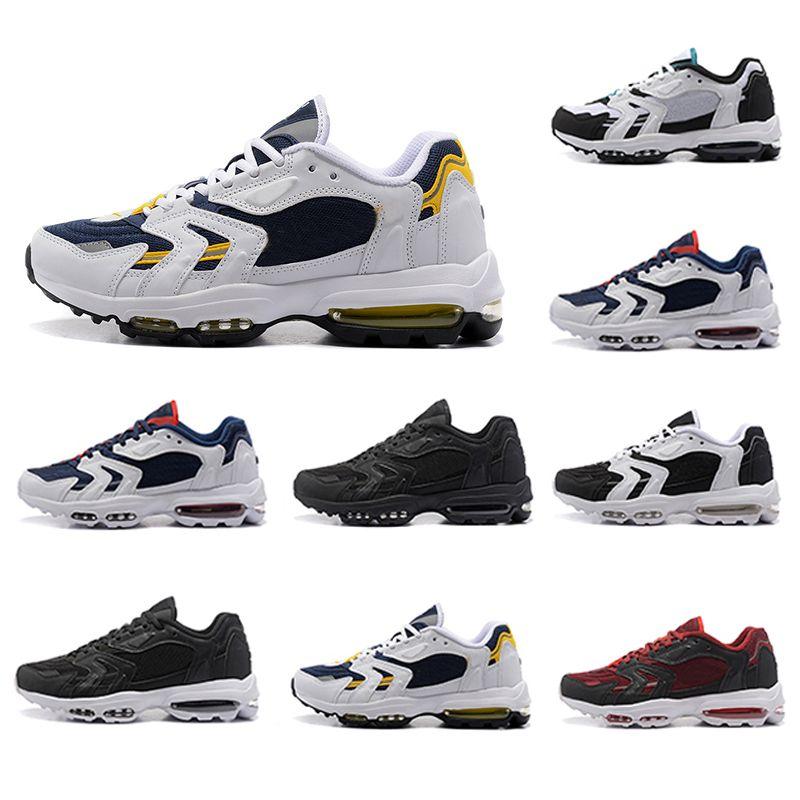 Nike air max 96 airmax 96 shoes Zapatos correr para hombres Cojín 96S Negro blanco Multicolor Venta caliente barata Zapatillas de deporte para hombre