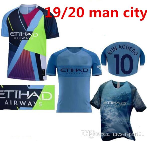 f50c2b6b2 New manchester celebration mashup soccer jersey home away sterling city  mahrez de bruyne jesus football shirt