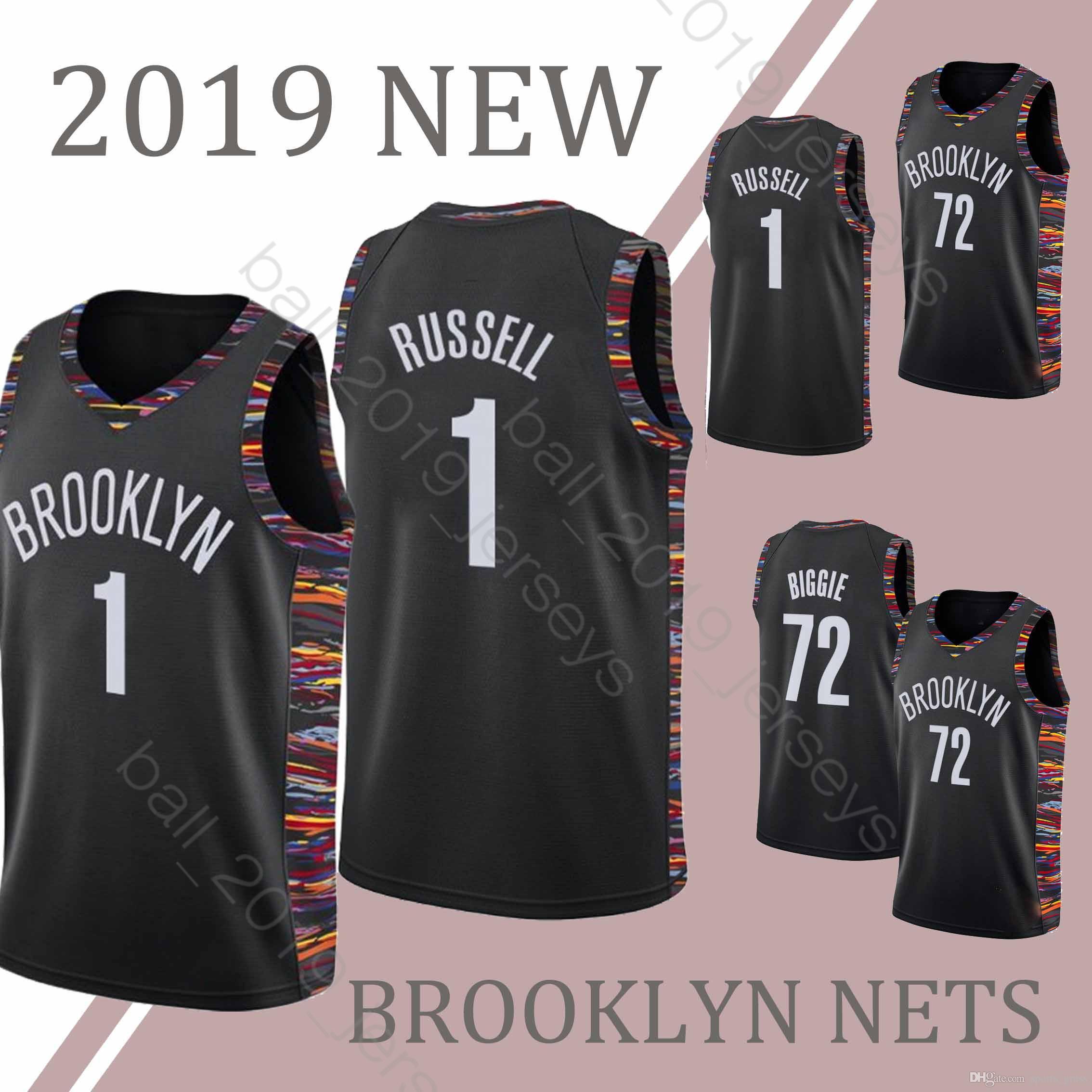 23aa6e312 2019 1 D Angelo Jersey Russell BROOKLYN 72 Black NETS Biggie Jerseys 2019  New HOT SALE Basketball Jerseys From Sports grass