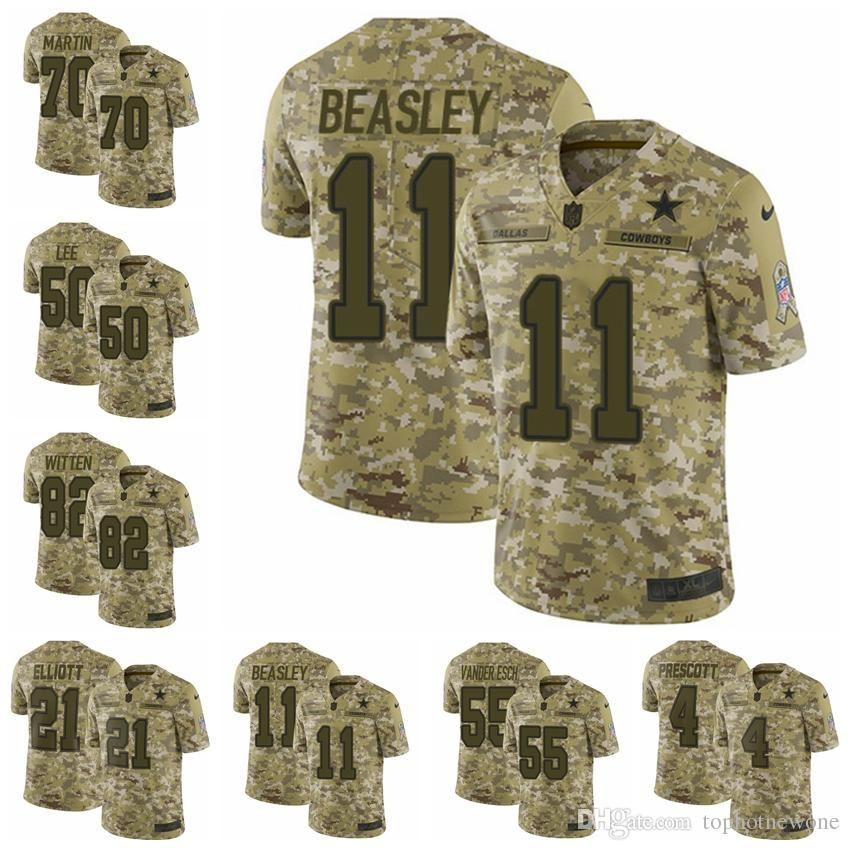 reputable site ef02f b90f8 Dallas Camo Cowboys Limited football Jersey 2018 Salute to Service 4 Dak  Prescott 21 Ezekiel Elliott 50 Sean Lee 82 Jason Witte jersey