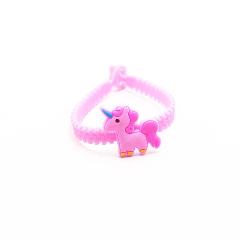 IYOE Flamingo Sereia Unicorn Pulseira Pulseiras Para Crianças Dos Desenhos Animados Encantador Animal Charme Pulseiras Envoltório PVC Crianças Presentes de Natal