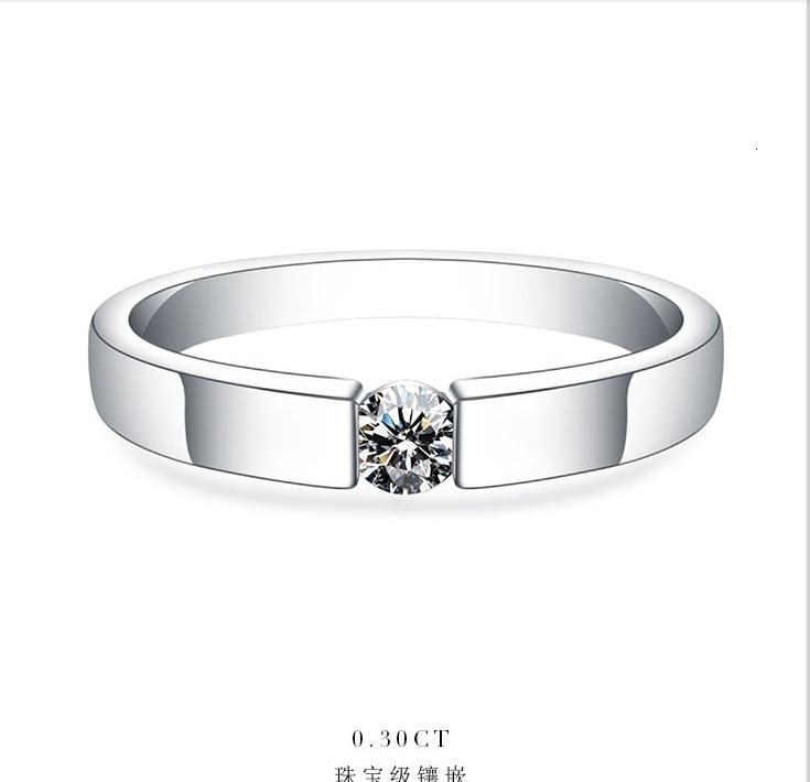 0.25Ct 4 millimetri G-H Anello di fidanzamento Moissanite per le donne di colore oro bianco solido gioielli SH190927 925 Sterling Silver Wedding Marriage