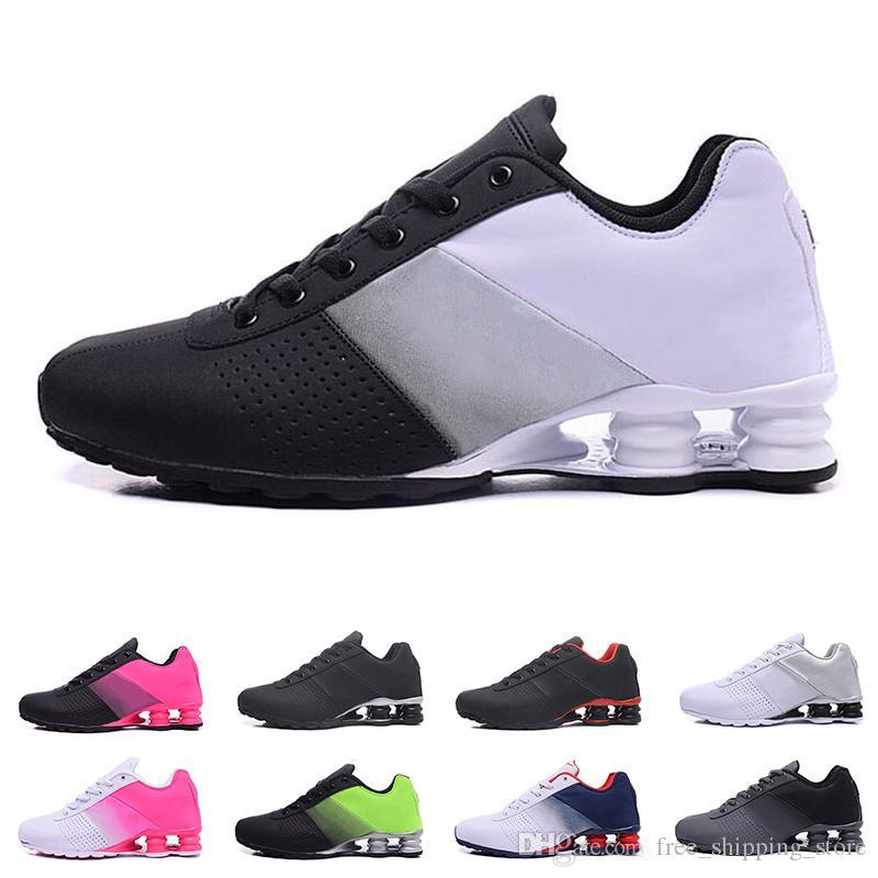 best service 4945a 28631 Acheter 2019 Nike Shox Deliver 809 Chaussures Pour Hommes Femmes Designer  Mens Formateur Triple Noir Blanc Violet Rouge Femmes Chaussures De Course  ...