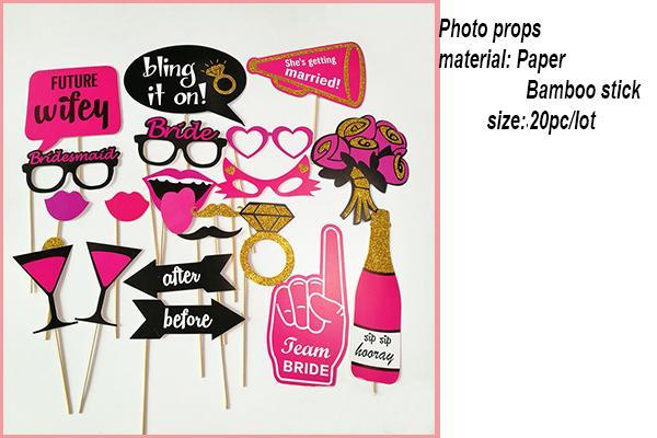 Wedding decoration Bride To Be Bachelorette Party Supplies team Bride Photo Props Set Sash Balloon Veil Hen Party Bridal Shower