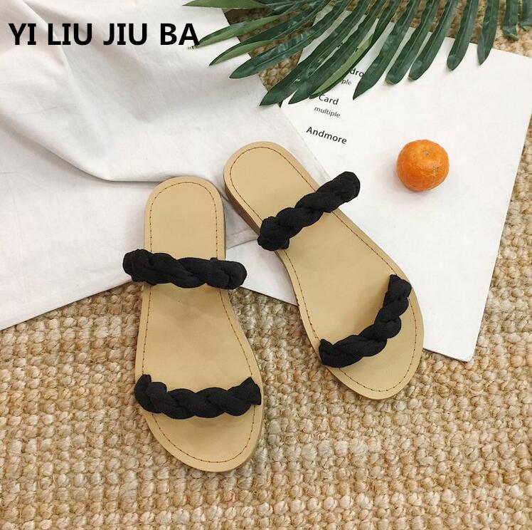 40feef3b9f6f Plus Size 35-39 Flats Shoes Woman Flip Flops Slides Slippers Summer ...