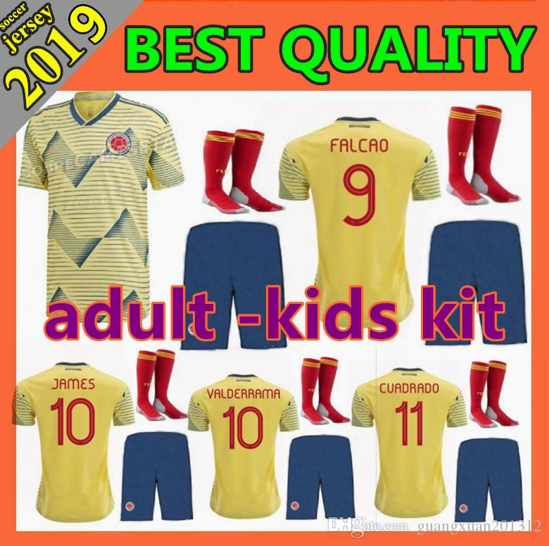 ee75582a9 2019 New Colombia Copa America Soccer Jersey 2019 2020 Home Kit FALCAO  JAMES CUADRADO BACCA BACCA 19 20 Adult And Kids Football Shirt From  Guangxuan201312