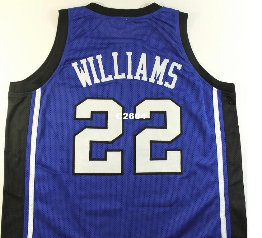 newest 7e9c5 5f32a Men #22 JASON WILLIAMS DUKE Blue Devils college jersey Size S-4XL or custom  any name or number jersey