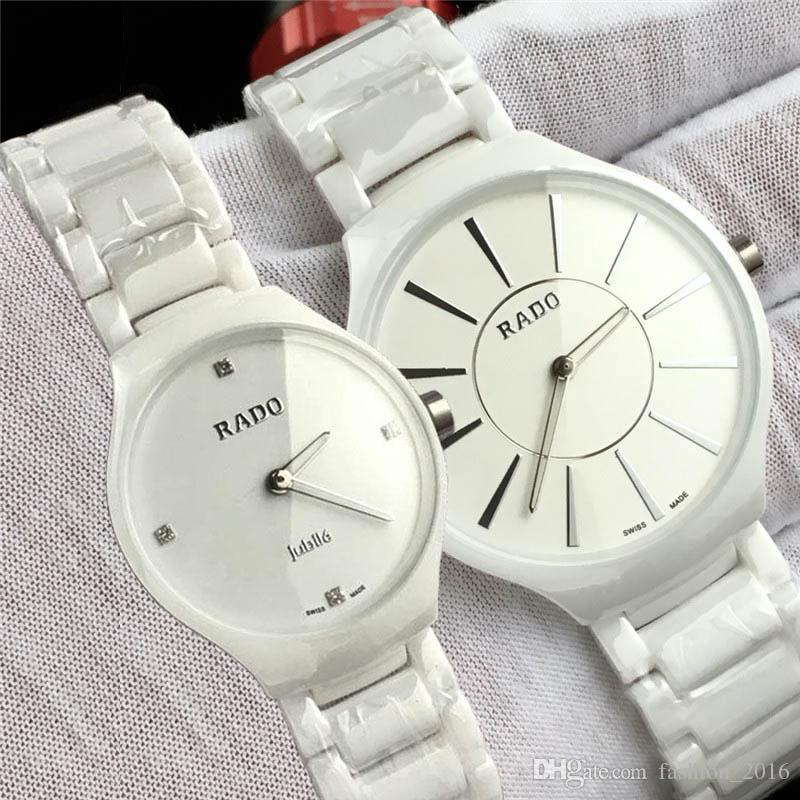 130d47cc50aa Compre Negro Blanco Cerámica Reloj De Pulsera 2019 Nuevo Swiss RD Casual Mujer  Relojes Para Hombre Reloj De Cuarzo De Alta Calidad Con Caja A  33.17 Del  ...
