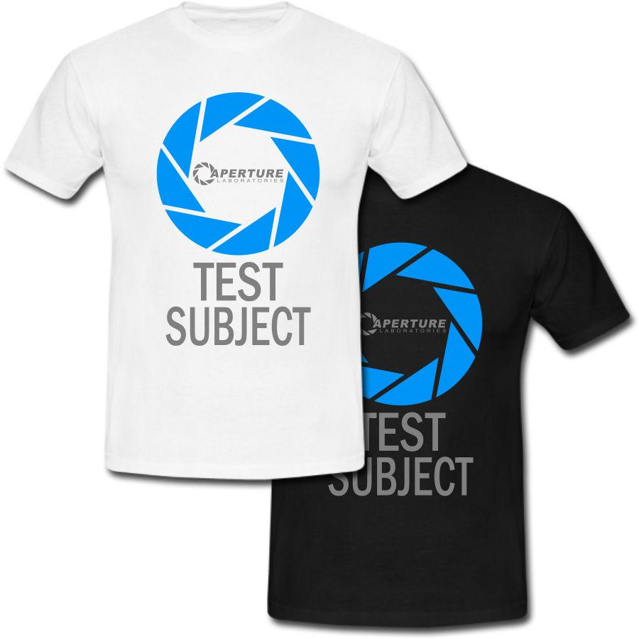 Aperture Science Laboratories Logo Test Subject Portal T-shirt USA Size  Funny free shipping Unisex Casual Tshirt top