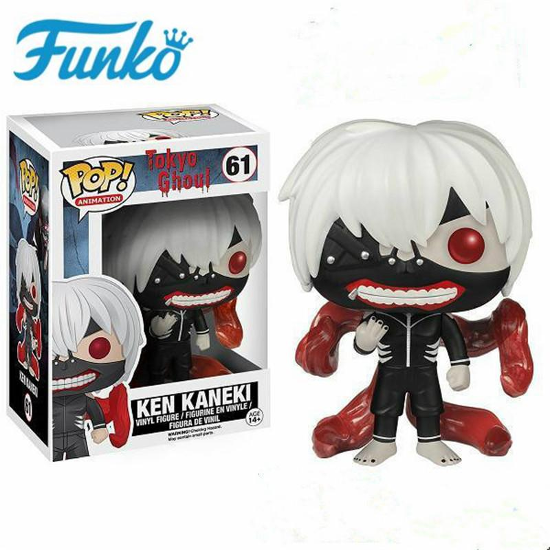FUNKO POP Anime Around - Tokyo Ghouls #61 Ken Kaneki Action Figure Toys Model Friend Birthday Gift Collection For Movie Fans SH190908