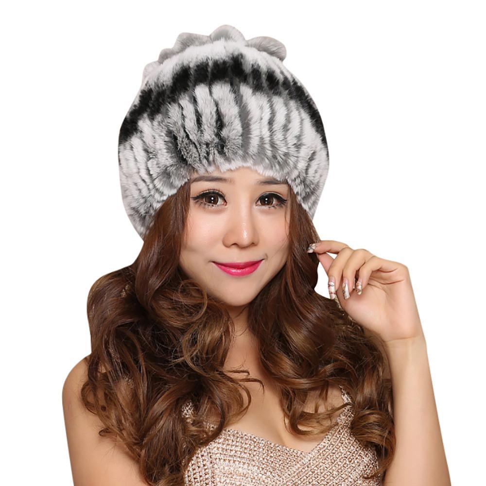 5c4486f7d3c 2019 Fashion Hat Elegant Warmth Colorful Women Hats Handmade Warm ...