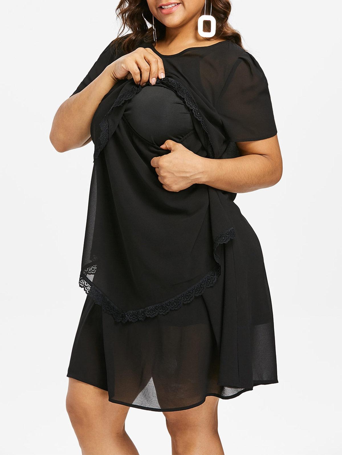5db4356723dd5 Plus Size Layered Nursing Shift Dress Elegant Cocktail Dresses Summer  Cocktail Dresses From Lj_2014, $20.69| DHgate.Com