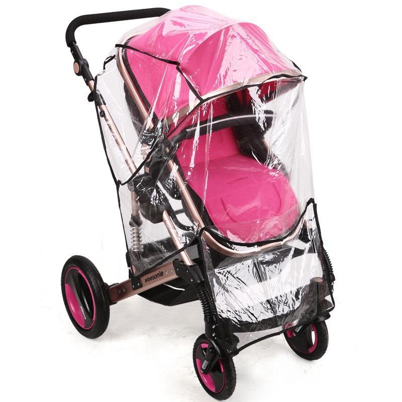 bd32d054f05c Baby Stroller Accessories Universal Rain Cover Cart Wind Cover Pushchair  Dustproof Warm For Stroller Pram Accessories