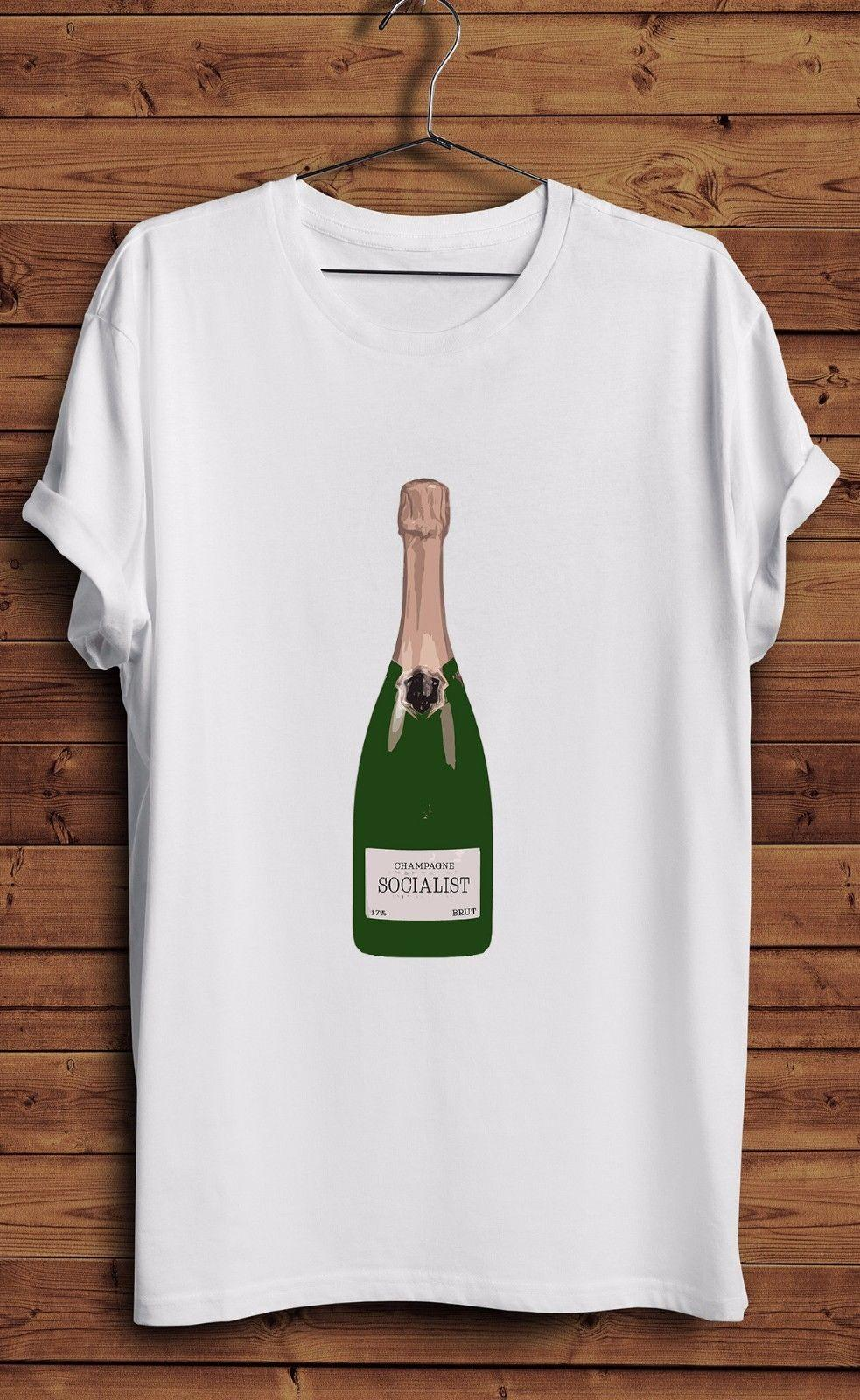 2706eefa168e7 Champagne Socialist T Shirt Rich Kids Socialism Labour Corbyn Left Wing  LiberalFunny free shipping Unisex Casual Tshirt