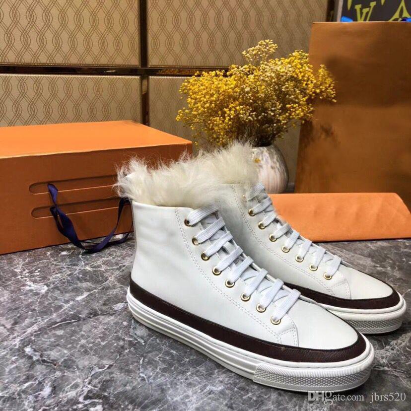 diseñador de moda las botas de las mujeres calzados informales de vendaje 100% zapatos de mujer de cuero reales bota plana de cuero de invierno botas de nieve caliente de lujo us5-10 41