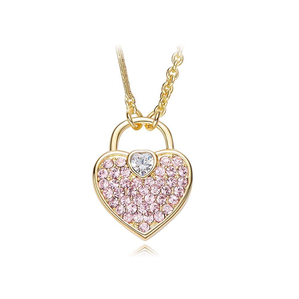 48672a05532c Compre Venta Al Por Mayor Cristales De Swarovski Colgantes Mujer Collares  Azul Oro Color Rosa Corazón Colgante Joyería Romántica Chic Bijoux Regalo  Nuevo A ...