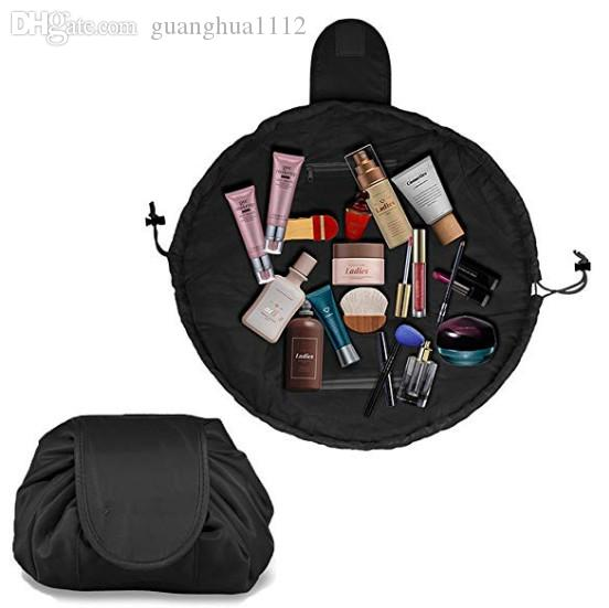 2019 Lazy Drawstring Make Up Bag Portable Large Travel Cosmetic Bag Pouch Travel Makeup Pouch Storage Organiser For Women Girl Black From Guanghua1112, ...
