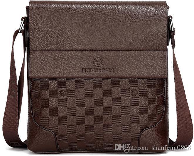 4bae50fdce 19 New Fashion Men S Shoulder Bag High End Men S Business Messenger Bag  Men S Famous Designer Plaid Bag Briefcase Leather Backpack From  Shanfeng0808