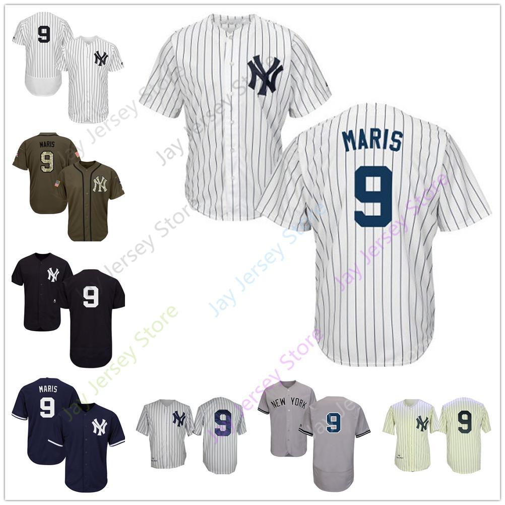 superior quality 12fbc b371c Roger Maris Jersey Men Women Youth Yankees Cooperstown New York Cream White  Pinstripe Grey Black Home Away All Stitched