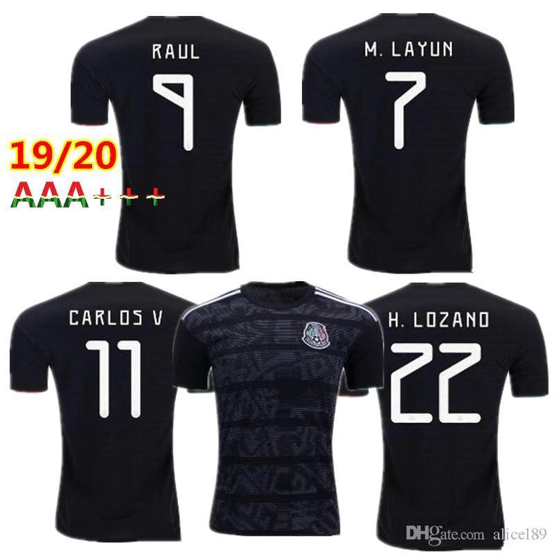 210dab840 2019 2018 2019 Mexico GOLD CUP Black KIT Soccer Jerseys 2018 World Cup Home  Away CHICHARITO Camisetas De Futbol H.LOZANO G.DOS SANTOS Shirts From ...