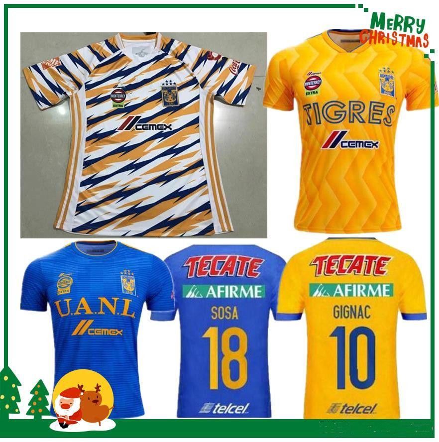 88b2108ee89 2019 2018 2019 UANL TIGRES New Third DE LA Soccer JERSEYS 18/19 Mexico Club  LIGA MX Maillot De Foot Home Yellow 6 Star GIGNAC Football Shirts From  Didas, ...