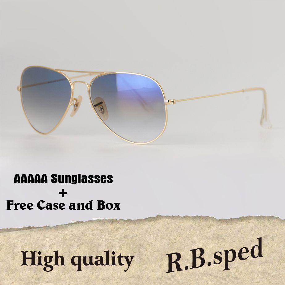 729764f1998 To Choose High Quality Classic Pilot Sunglasses Brand Designer Men Women  Sun Glasses Eyewear Metal Frame Glass Lens With Free Case Sunglasses Brands  Best ...