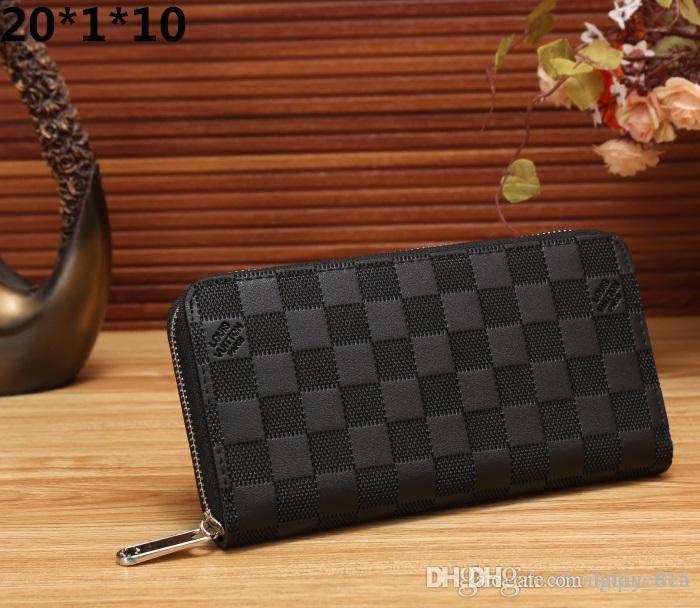 f0c8b5350158 Men Zipper Long Wallets Luxury Brand Coin Purse 2018 Clutch Male ...