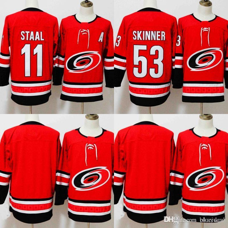 0de786f52 ... promo code for new style carolina hurricanes hockey jersey home red  blank 11 staal 53 jeff