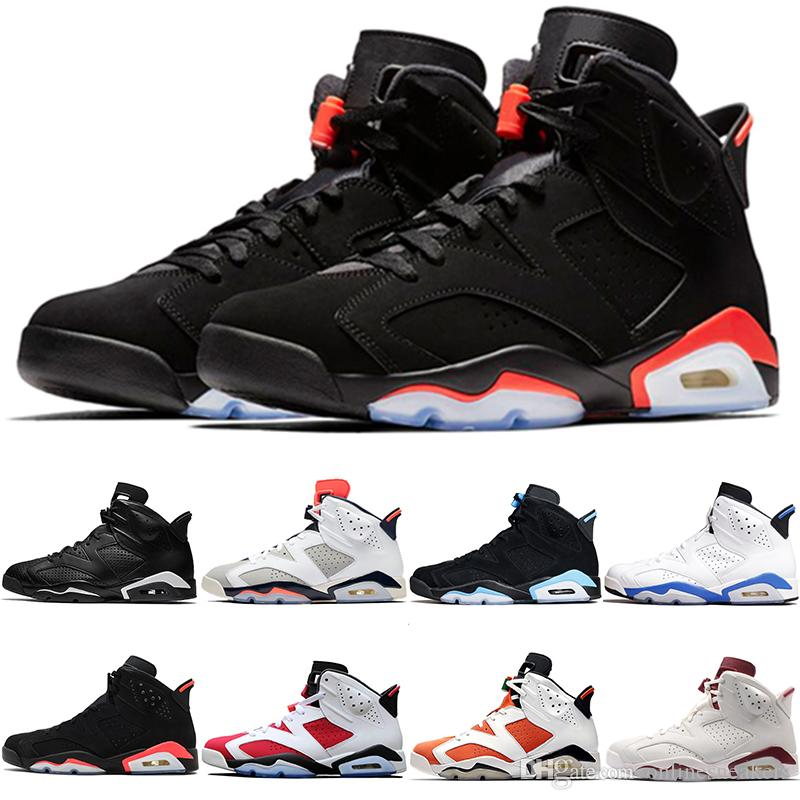 New Infrared 6 6s Men Basketball Shoes Bred Tinker UNC Black Cat White Carmine Mens Designer Trainers Sport Athletic Sneakers Size 8-13