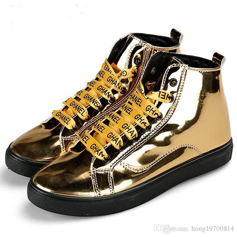 96cabab014 Acquista 33Autumn Mens Scarpe Da Ginnastica High Top Shoes For Men Scarpe  Casual Stivali In Pelle Lace Up Street Style Uomo Scarpe Taglia 39 44 A  $26.5 Dal ...