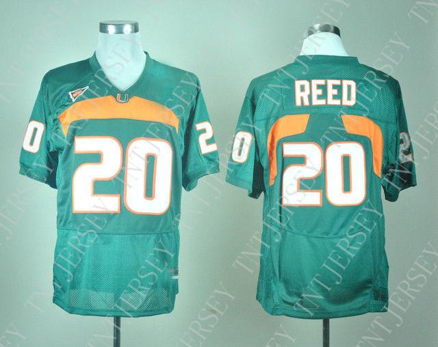 e556099bb 2019 Cheap Custom NEW Miami Hurricanes Ed Reed #20 College Football Jersey  Green Stitched Customize Any Number Name MEN WOMEN YOUTH XS 5XL From  Tntjersey, ...