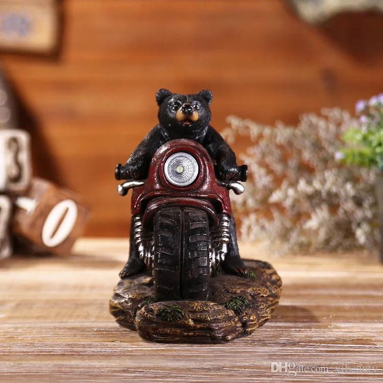 2019 Resin Crafts Living Room Set Pieces Hunting Series Bear Riding