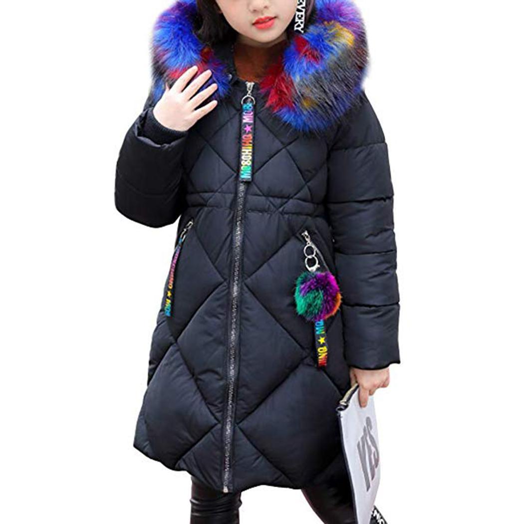 size 40 a7e90 85d22 Giacca invernale per bambini 2018 della ragazza della manica Giacca  invernale per bambini lunghi della capretta del cappotto dei bambini  Addensare ...