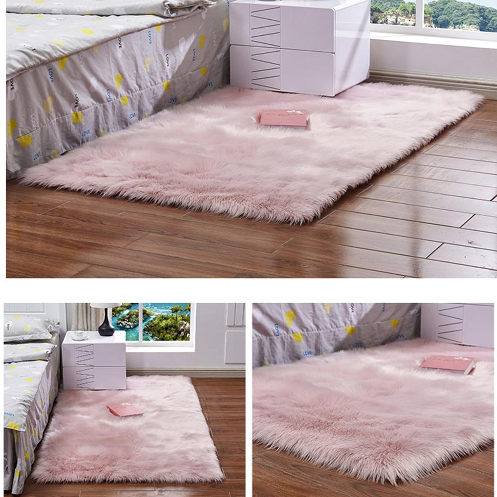Incroyable Shaggy Carpet For Living Room Home Warm Plush Floor Rug Fluffy Mats Kid  Room Faux Sheepskin Wool Area Rug Bedroom Mats Silky Afghan Rugs Aladdin  Carpet From ...