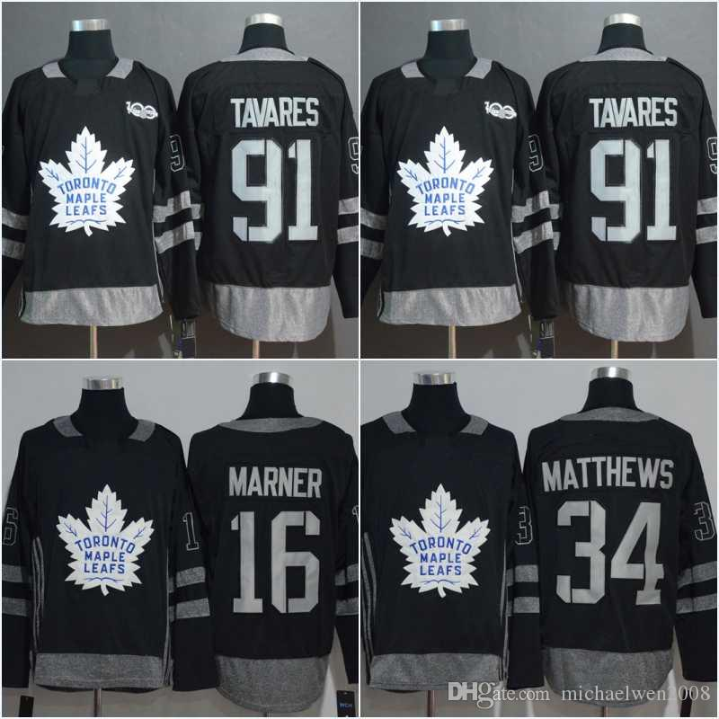 f1470256c97 2019 91 JohnTavares Jersey Centennial Classic 100 Anniversary Patch 16 Mitch  Marner 34 AustonMatthews Toronto Maple Leafs Hockey Jerseys From  Michaelwen2008 ...