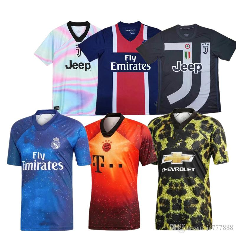 De Calidad Superior 2019 20 Real Madrid Juventus MU Bayern Munich Paris  Soccer Jersey 2019 2020 PSG Short Sleev Training Wear Edición Especial  Jersey Por ... 03153e955c870