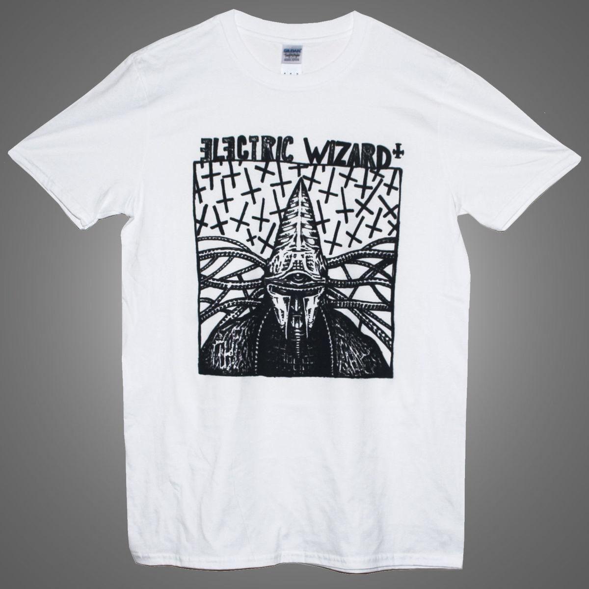 eb2d0d24aedc1 Compre Camiseta Del Mago Eléctrico Camiseta Estampada Stoner Doom Metal  Kyuss Sleep Music Band A  14.67 Del Jie034