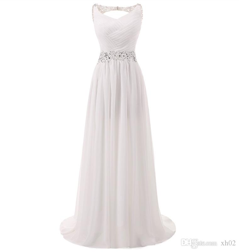New Empire Bohemian Wedding Dresses Cheap Maternity Gown Cap Sleeve Keyhole Lace Up Backless Chiffon Summer Beach Pregnant Bridal Gowns