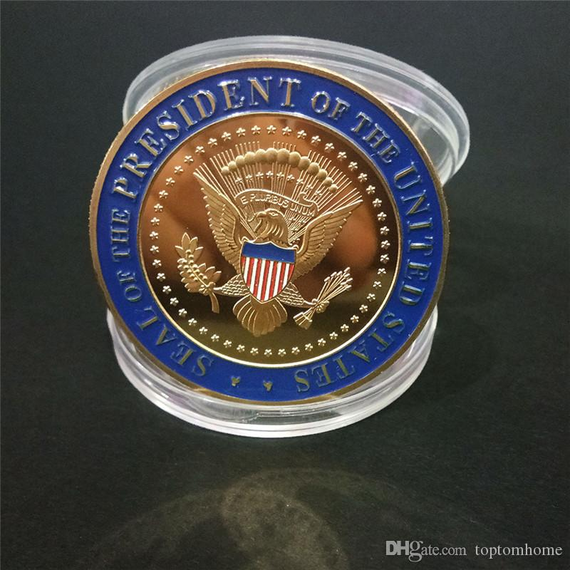 Donald Trump Commemorative Eagle Coin American 45th President Badge United States President Gold Coins Metal Craft Collection Token
