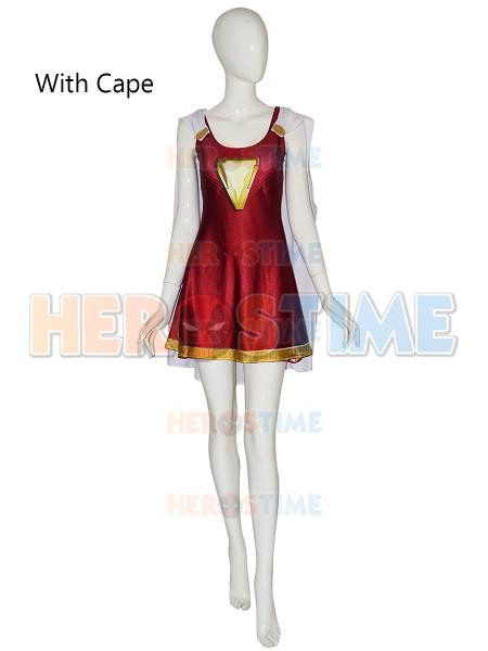 0211cea6 Shazam Cosplay Costume Mary Marvel Suit 2019 Movie Shazam Family Cosplay  Printing Dress Captain Marvel Jumpsuit Halloween Suit Women Group Halloween  ...