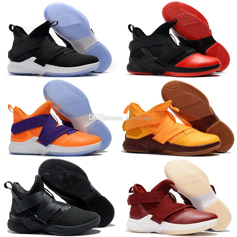 pretty nice 8bc1e 274ce Cheap New Lebron Soldier 12 Basketball Shoes Purple Blue Olive Green Black  Bred Snakeskin Youth Kids XII Sneakers Sport Shoe For Kids Jogging Shoes  For ...