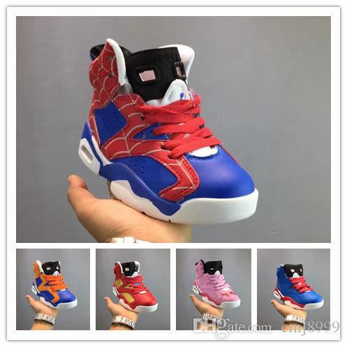 factory price 8a87e 6ed05 Compre 2018 Nuevo 6S UNC Zapatos De Baloncesto De Dibujos Animados Para  Niños Negro Y Azul Calidad 6S Calzado Deportivo Para Hombres Para Niños  Tamaño 28 35 ...