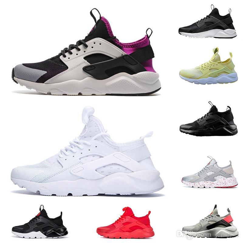 watch 9b43c ff03a Acheter 2019 Nouveau Nike Huarache 4 IV Ultra Hommes Femmes Chaussures De  Course Haute Qualité Triple Noir Blanc Rouge Jaune Huaraches 4 Sports  Designer ...