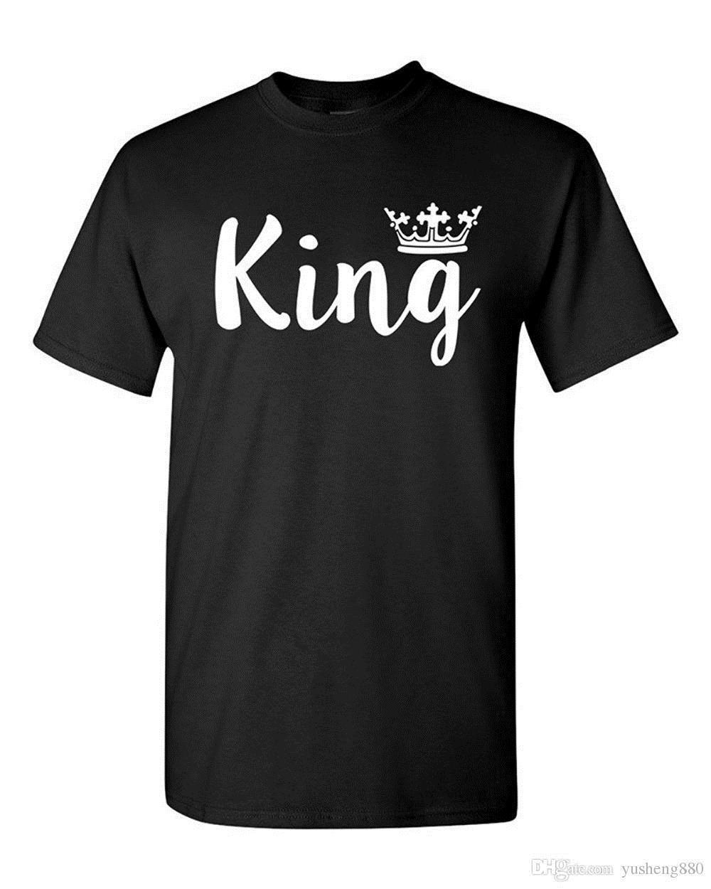 d53d801fb5 Shirt Design Website Design Men Crew Neck King Crown Couple Love Matching  Relationship Funny DT Adult T Shirt Tee Short Sleeve Cool T Shirts For Boys  Online ...